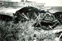 Самолёт ТБ-1 в Хатангской тундре. 1980