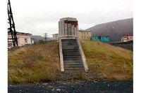 Монумент «первая  комсомолка Норильска»