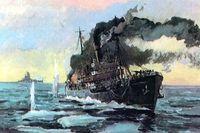 Бой ледокола Александр Сибиряков с крейсером Адмирал Шпеер