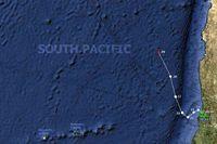 Международное Общество Океанских Гребцов (Лондон). Карта маршрута Фёдора Конюхова на 30.12.2013