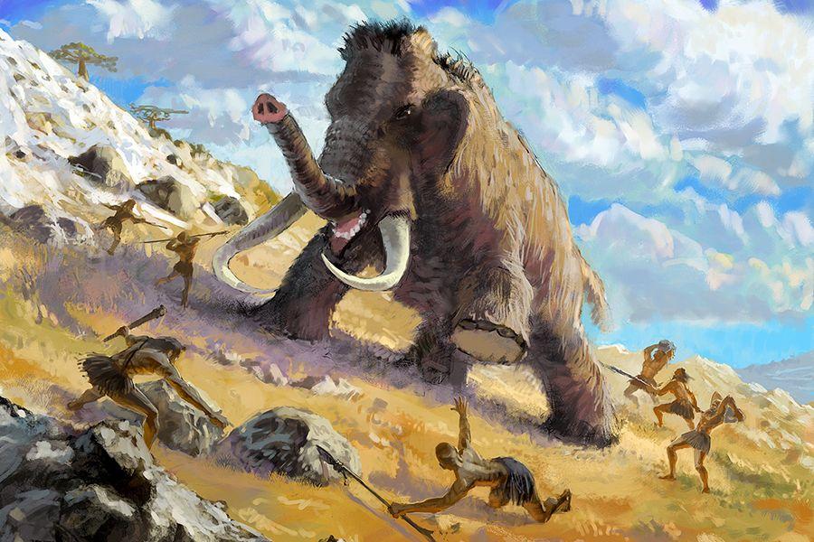 этот картинка мамонта и древнего человека самая длинная