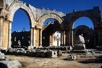 Сирия. Калъат-Симъан.Храм Святого Симеона Столпника. 5 век
